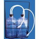 Garrafas para Exercícios Respiratórios de Sopro e Sucção com Suporte