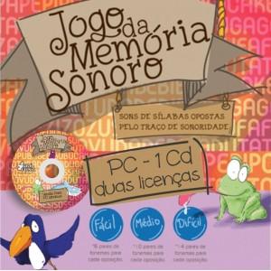 Jogo da Memória Sonoro -  para PC Windows (1 CD, 2 licenças)